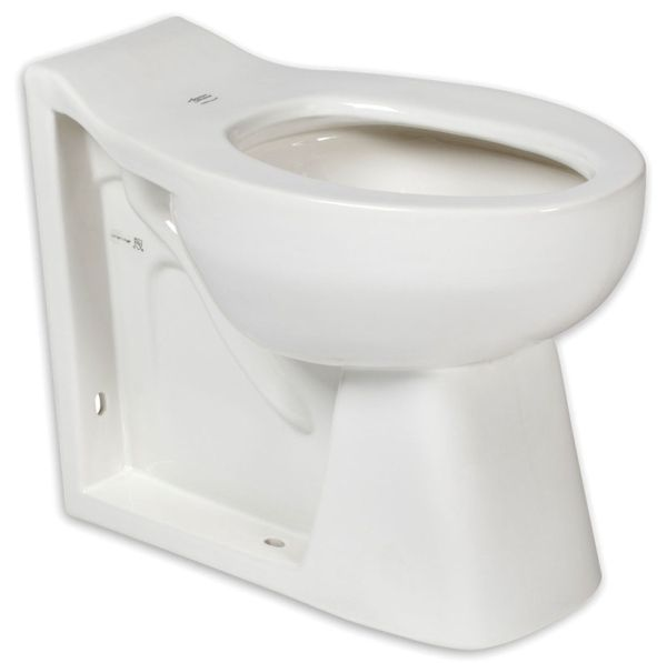 "16-7/8"", 1.6 GPF, White, Vitreous China, Elongated, Toilet Bowl"