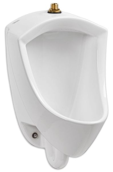 "14-5/16"" x 14-7/16"" x 22-5/8"", Top Spud Inlet x Rear Spud Outlet, 0.125 to 0.5 GPF, White, Vitreous China, Washdown Action, Urinal"