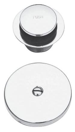 "2-7/8"" x 2-1/8"" Tub Drain, 3-1/8"" x 2"" Faceplate, Flat Black, Solid Brass, Toe Activated, Tub Drain Kit"