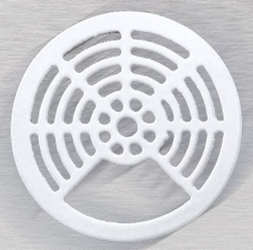 White/Enamel, Cast Iron, 3/4 Round, Floor Sink Top Grate