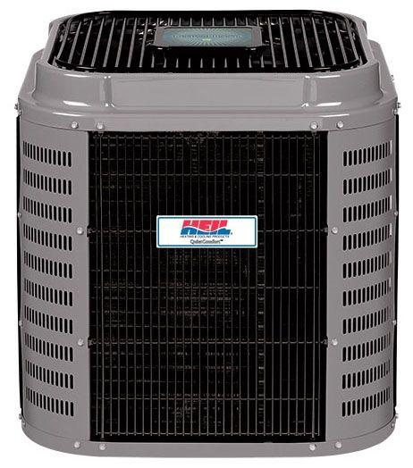 "35"" x 35"" x 40-1/8"", 36000 BTU/Hr Cooling, 208/230 VAC 60 Hz 1-Phase, 16 SEER, R-410A, 2-Stage, 1-Speed, High Efficiency, Mainline, Outdoor, Communicating, Split System Heat Pump"