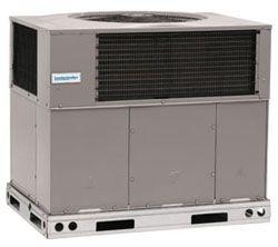 "48-1/4"" x 44-3/16"" x 50-3/4"", 42000 BTU/Hr Cooling, 208/230 VAC 60 Hz 1-Phase, 15 SEER/12 EER, R-410A, 2-Stage, Mainline, Packaged Heat Pump"
