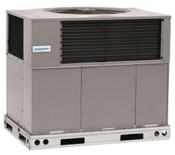 "48-1/4"" x 44-3/16"" x 48-3/4"", 48000 BTU/Hr Cooling, 208/230 VAC 60 Hz 1-Phase, 15.5 SEER/12.5 EER, R-410A, 2-Stage, Mainline, Packaged Heat Pump"