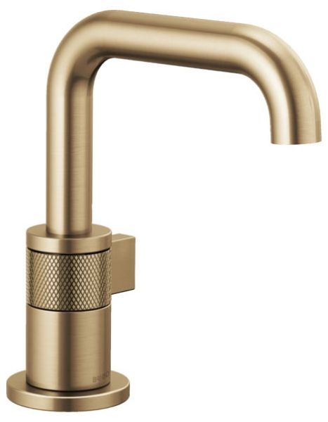 """7-9/16"""" x 5-9/16"""" x 5-9/16"""", 1.5 GPM, Lead-Free, Luxe Gold, 1-Handle, Deck Mount, Bathroom Sink Faucet"""