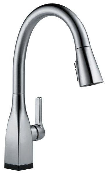 "16"" x 8-5/8"" x 9-1/4"", 1.8 GPM, Lead-Free, Arctic Stainless, High-Arc Spout, Lever, 1-Handle, Deck Mount, Kitchen Faucet"