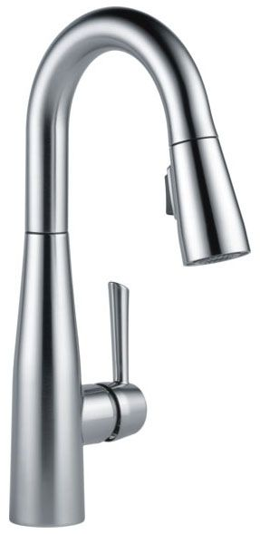 "15-3/4"" x 8-3/4"" x 9-3/8"", 1.8 GPM, Lead-Free, Arctic Stainless, High-Arc Spout, Lever, 1-Handle, Deck Mount, Kitchen Faucet"