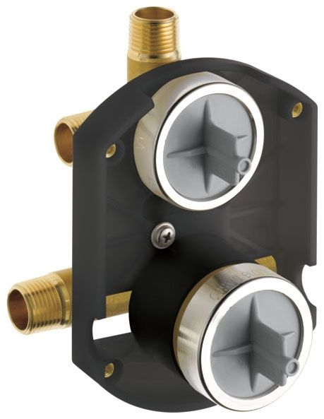 8.3 GPM, Forged Brass, 1-Piece, 3-Port, Pressure Balancing, Rough-In, Diverter, Shower Valve