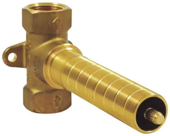 9.1 GPM, Forged Brass, 1-Piece, Volume Control, Rough-In, 90D, Shower Valve