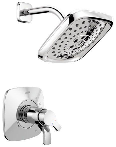1.75 GPM at 80 PSI, Chrome Plated, Lever Handle, Wall Mount, Pressure Balancing, Shower Trim