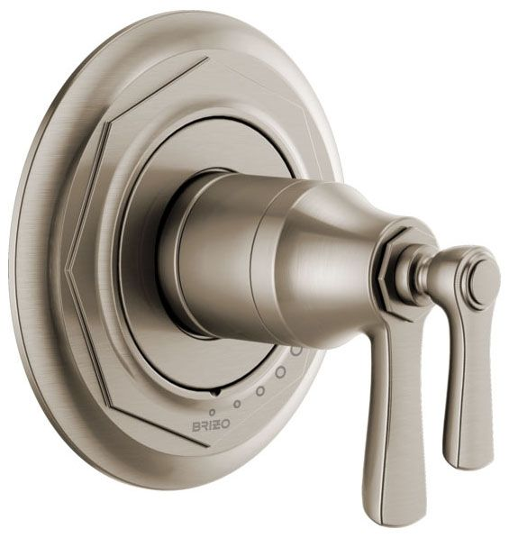 "6-1/2"" Diameter, Luxe Nickel, Lever, Tub and Shower Valve Trim"