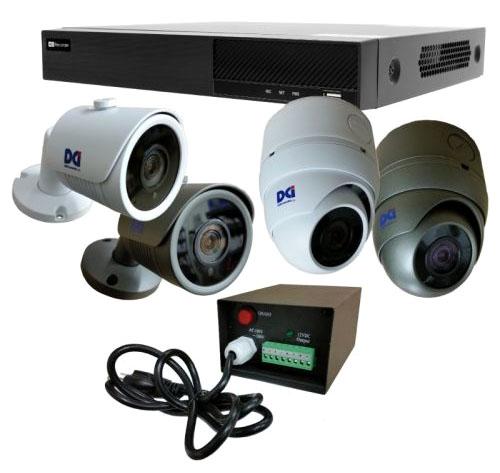 DCI 4ch 5MP HDTVI Gray Dome Camera Kit
