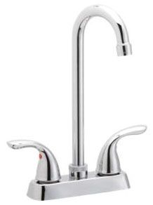 """11-5/8"""" x 9"""" x 3-5/8"""", 1.5 GPM, Lead-Free, Chrome Plated, Brass, Lever, 2-Handle, Deck Mount, Kitchen Faucet"""