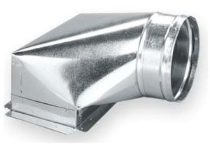 "10"" x 6"" x 6"", PH2, PG Sealed, Sheet Metal Duct Boot"