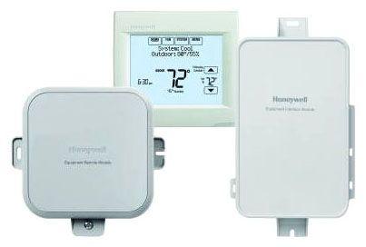 "6-7/8"" x 1-31/64"" x 6-39/64"", 24 VAC 50/60 Hz, 10 Sq Inch Touchscreen Display, Grey, Vertical Mount, Thermostat Equipment Remote Module Kit"