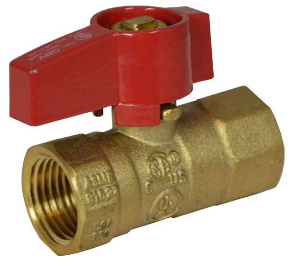 "1/2"", FPT x FPT, 125 PSI, Brass, Lever Handle, 2-Piece, Gas Ball Valve"