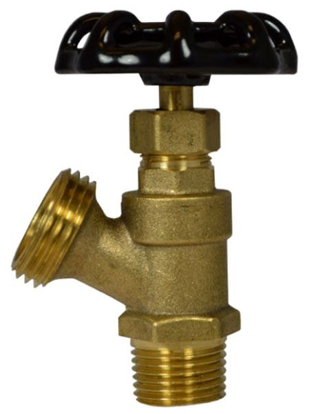 "1/2"", MPT or Soldered x MHT, Brass, Hand Wheel, Boiler, Drain Valve"