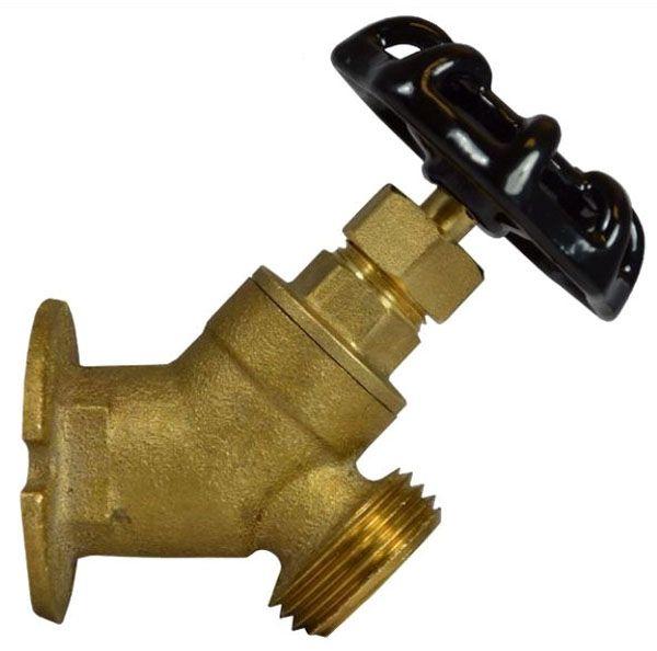 """1/2"""" x 3/4"""", FPT x MHT, Brass, Hand Wheel, Standard Flange, Sillcock"""