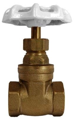 "1"", FPT x FPT, Non-Rising Stem, 200 PSI, Lead-Free, Brass, Hand Wheel, Gate Valve"