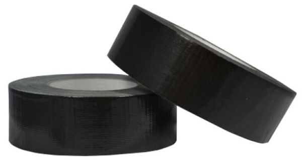 "2"" x 2 Mil x 6 Yd, Black, Duct Tape"