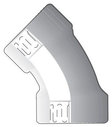 "6"" x 6"", Electrofusion Joint x Electrofusion Joint, Flame Retardant Polypropylene, 45D, Straight, Elbow"