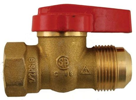 "15/16"" x 3/4"", Flare x FPT, Forged Brass, Lever Handle, 1-Piece, Gas Ball Valve"
