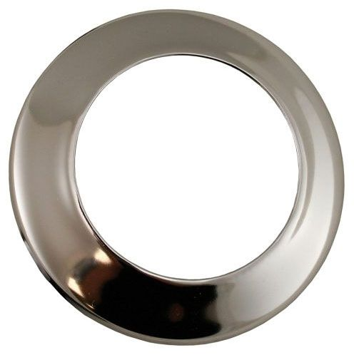 "2-1/2"" Diameter, 1/2"" IPS, Chrome Plated, Steel, 1-Hole, Low Pattern, Kitchen/Bathroom Faucet Flange Escutcheon"