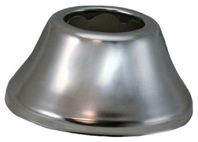"3"" x 1-3/8"", 1-1/2"" Tubular, Chrome Plated, Steel, 1-Hole, Bell Pattern, Kitchen/Bathroom Faucet Flange Escutcheon"