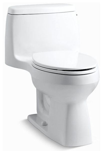 "18-3/4"" x 27-3/4"" x 28-3/16"", 12"" Rough-In, 1.28 GPF, White, Vitreous China, Floor Mount, 1-Piece, Elongated Bowl, Toilet"