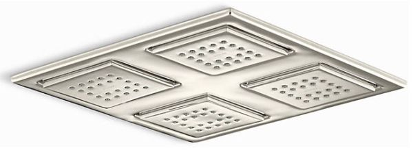 "9-7/8"" x 9-7/8"" x 2-5/8"", 0.6 GPM, Vibrant Polished Nickel, Square, Overhead Shower Panel"