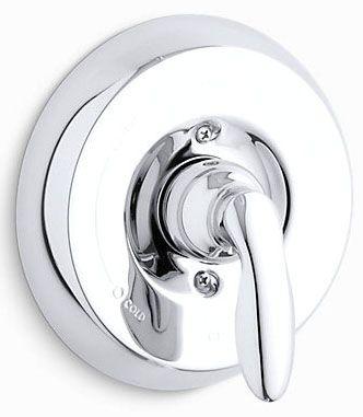 "6-1/2"" Diameter, Polished Chrome, Metal, Lever, Shower Faucet Valve Trim"