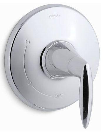 "6-7/16"" Diameter, Polished Chrome, Metal, Lever, Shower Faucet Valve Trim"