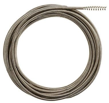 "25' x 1/4"", Inner Core, Bulb Head, Drain Cleaner Cable"
