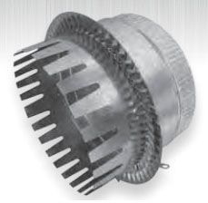 """10"""" Duct Board Start Collar - For R8 (2"""") Duct Board, Optional Damper Holes"""