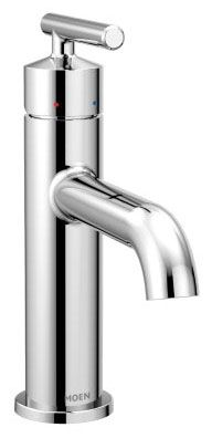 """3-1/2"""" x 5-1/2"""", 1.2 GPM, Lead-Free, Chrome Plated, Metal Lever 1-Handle, Deck Mount, Bathroom Sink Faucet with Metal Pop-Up Waste Assembly"""