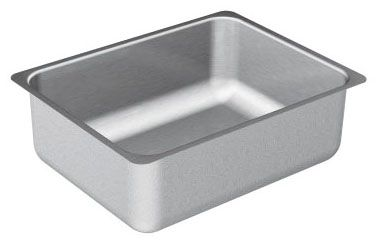 """23"""" x 18"""" x 6-1/2"""", 8"""" Rough-In, 20 Gauge, Matte, Stainless Steel, Undermount, No-Hole, Single Bowl, Kitchen Sink"""