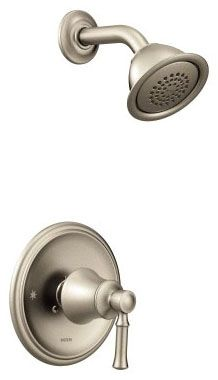 1.75 GPM at 80 PSI, Brushed Nickel, Metal Lever Handle, Wall Mount, Pressure Balancing, Shower Faucet