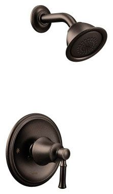 1.75 GPM at 80 PSI, Oil Rubbed Bronze, Metal Lever Handle, Wall Mount, Pressure Balancing, Shower Faucet