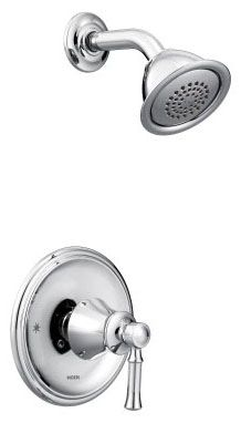 1.75 GPM at 80 PSI, Chrome Plated, Metal Lever Handle, Wall Mount, Pressure Balancing, Shower Faucet