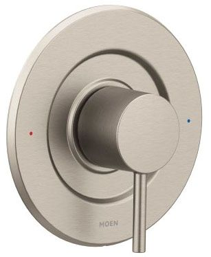 "7"" Diameter, Brushed Nickel, Metal, Lever, Tub and Shower Valve Trim"