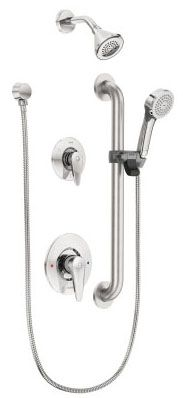 1.5 GPM at 80 PSI, Chrome Plated, Metal Lever Handle, Wall Mount, Pressure Balancing, Shower Trim Kit