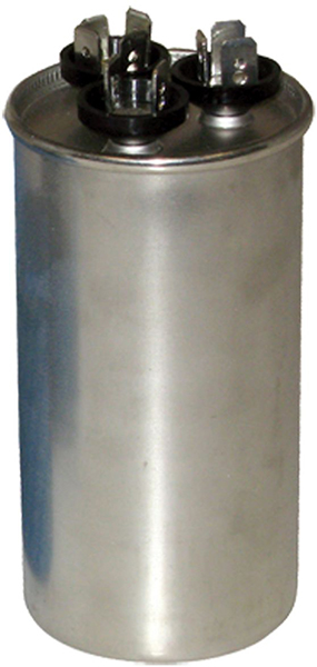 440 VAC 50/60 Hz, 45/7.5 Microfarad, Round, 2-Section, Run Capacitor for HVAC/R Motor