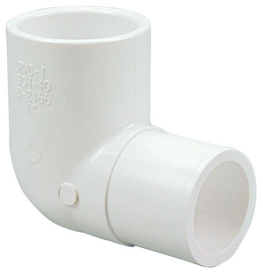 "1-1/2"" x 1-1/2"", Male Spigot x Female Socket, 2000 PSI, Schedule 40, Lead-Free, PVC, 90D, Street, Straight, Elbow"