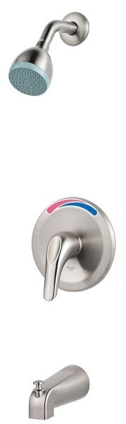 "1/2""-14 NPSM NPT, 2 GPM, Brushed Nickel, Lever Handle, Pressure Balancing Valve, 1-Handle, Wall Mount, Tub and Shower Trim"