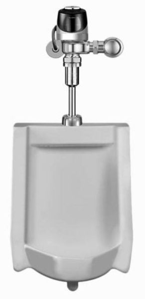 "17-1/4"" x 25-1/2"" x 14-1/4"", Top Spud Inlet x Rear Spud Outlet, 0.125 GPF, White, Vitreous China, Washdown Flush Action, Urinal"