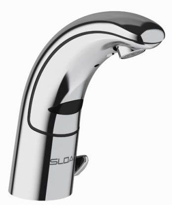 """6-7/8"""" H x 5-9/16"""" Reach, 1.5 GPM, 6 VDC, Lead-Free, Polished Chrome, Die-Cast Metal, Mid Height Spout, 1-Hole Center, Infrared, Deck Mount, Electronic Faucet"""