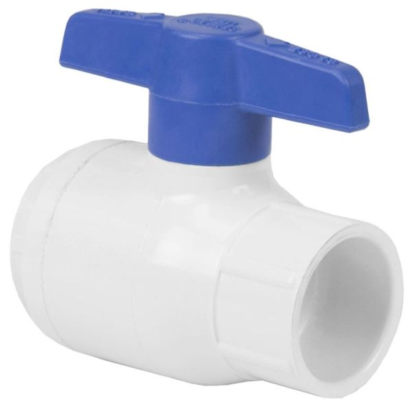 "4"", FPT x FPT, 150 PSI Non-Shock, PVC, 1/4 Turn Handle, 1-Piece, Full Bore, Ball Valve"