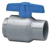 "2"", Socket x Socket, 150 PSI Non-Shock, CPVC, 1/4 Turn Handle, 1-Piece, Full Bore, Ball Valve"