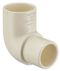 "1/2"" x 1/2"", Spigot x Socket, 100 PSI, Lead-Free, Tan, CPVC, 90D, Street, Straight, Elbow"