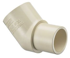 "3/4"" x 3/4"", Spigot x Socket, 100 PSI, Lead-Free, Tan, CPVC, 45D, Street, Straight, Elbow"
