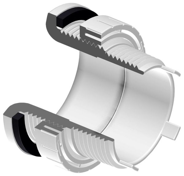 "3/4"" x 1-1/4"", Socket x MPT, 150 PSI, Schedule 40, White, PVC, Tank, Adapter"